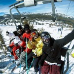 Friends on a Chairlift